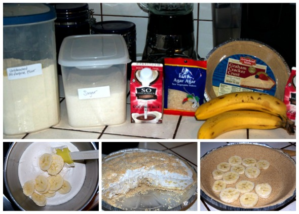 ingredients for vegan banana cream pie