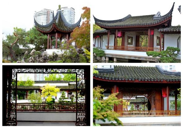 Chinese Garden collage