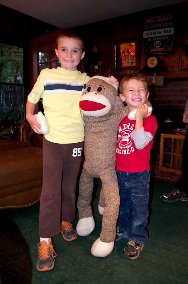 Boys and Sock Monkey