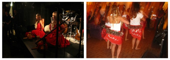 hula dancers performing at Nia's party