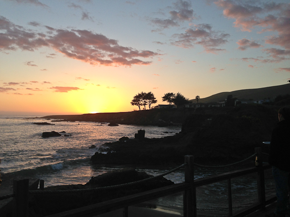 sunset in Cayucos