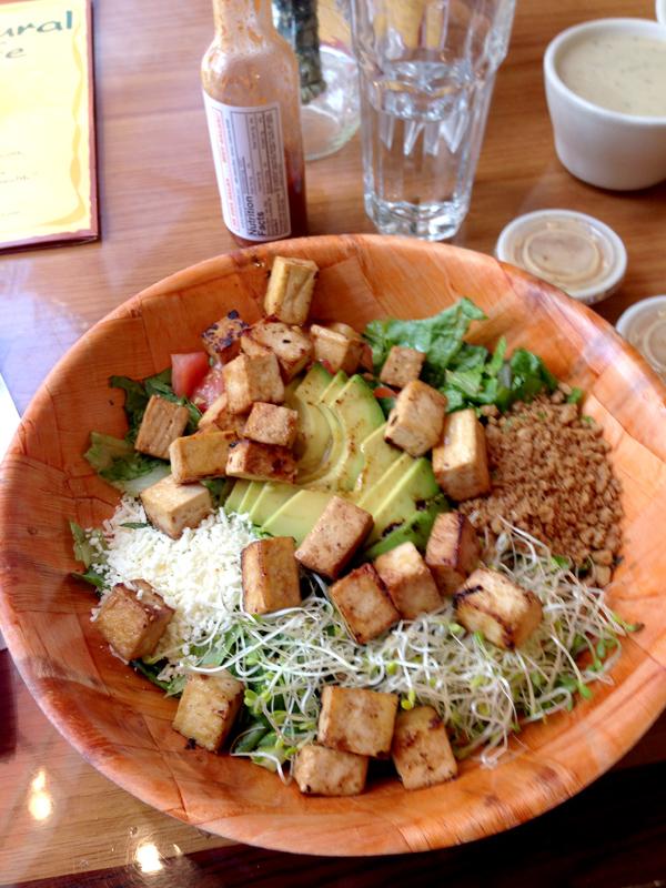 Salad at Natural Cafe