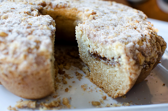 Vegan Sour Cream Coffee Cake