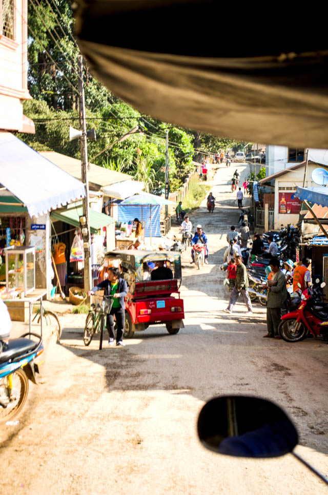 view from a tuk tuk in Myanmar