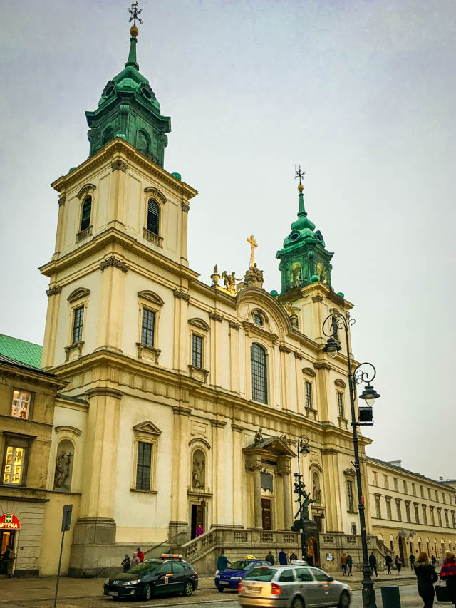 Warsaw Old Town church