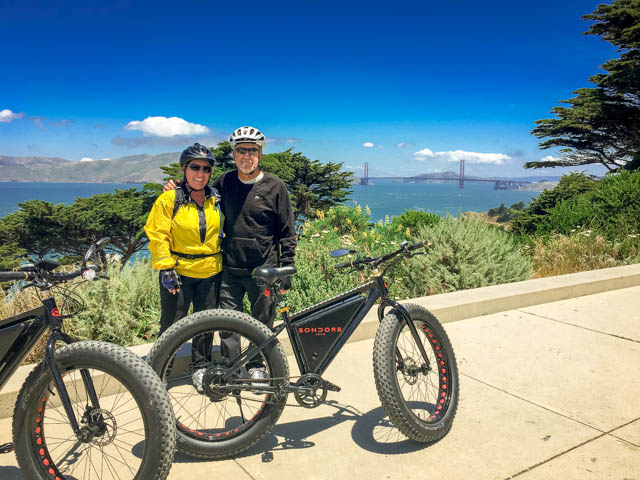 Sondors ebike riding in San Francisco