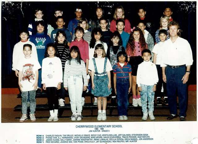 Mr Hunter's Class year 89-90