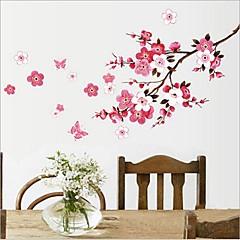 Çevre çıkarılabilir erik çiçeği pvc duvar sticker