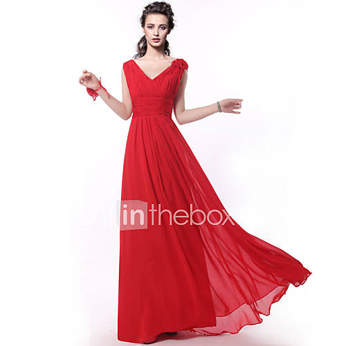 Floor-length Bridesmaid Dress - Ruby A-line Straps