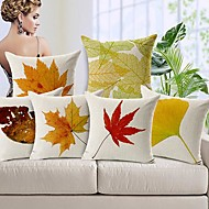 Set Of 4 Africa Style Patterned Cotton Linen Decorative Pillow Covers