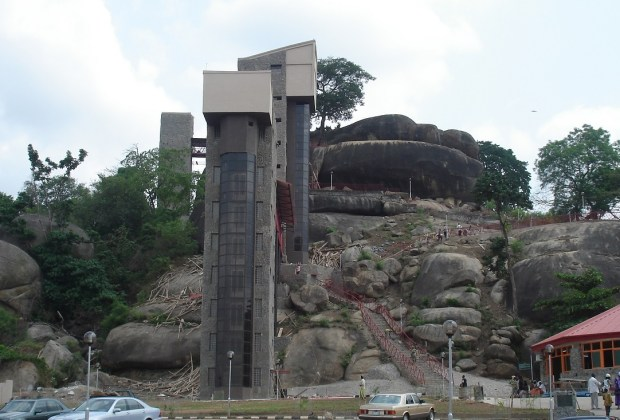 Olumo Rock as a tourist place was modernized by Governor Gbenga Daniel. Source: Olumo Progressive Association of Canada
