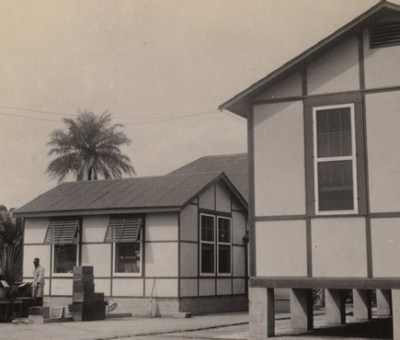 Animal houses of the Yellow Fever Laboratory, Yaba Lagos, Nigeria January 20 1933 - Dr. Wilbur A. Sawyer
