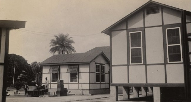 Animal houses of the Yellow Fever Laboratory, Yaba Lagos, Nigeria January 20 1933 - Dr. Wilbur A. Sawyer