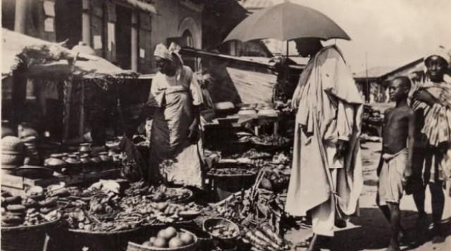 The Great Depression times in Ereko Market, Lagos 1930s
