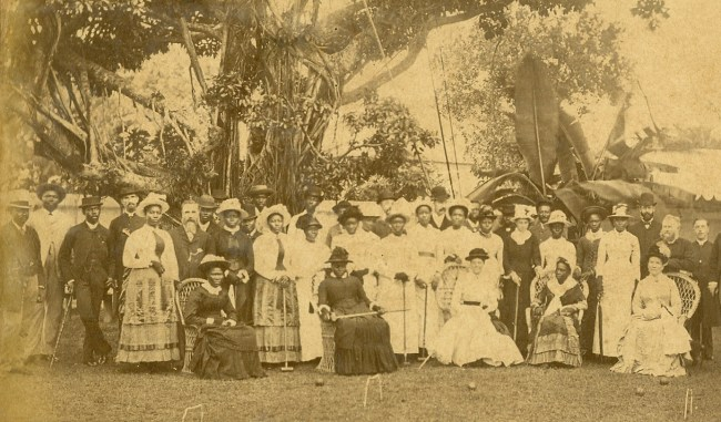 Ladies Club in the Governor at Home party, 1886