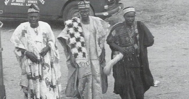 Ijebu Igbo elders and chiefs in a 1979 photo