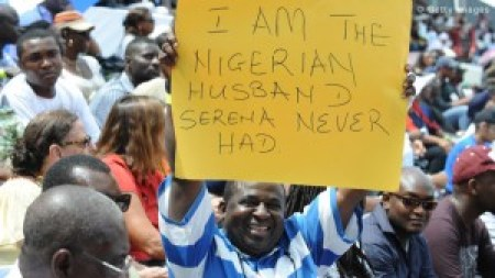 Fans at the Serena sisters Lawn Tennis game in Lagos