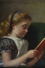 """""""Young Girl Reading,"""" by George Goodwin Kilburne Young, 1924."""