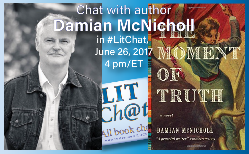 Damian McNicholl in #LitChat