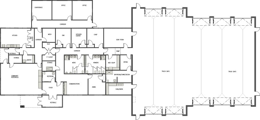 Litchfield Fire Station Floor Plan