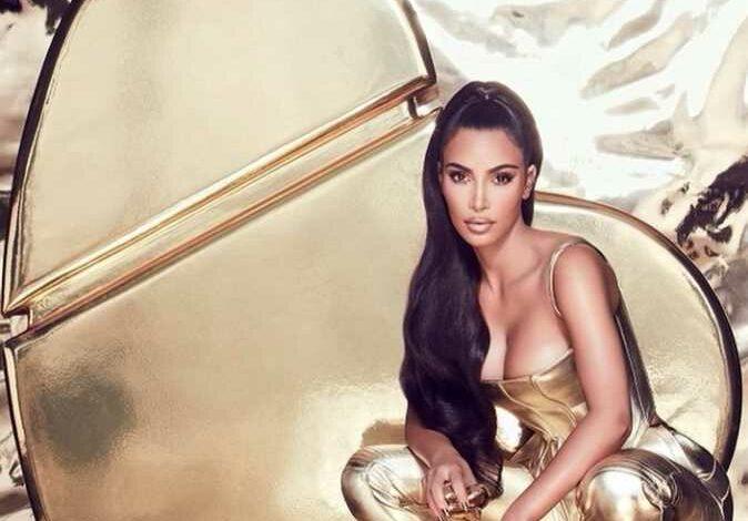 Kim Kardashian promotes her new production line with a fur Lamborghini
