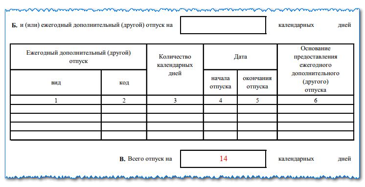 Изображение - Как заполняется записка-расчёт о предоставлении отпуска t60-4