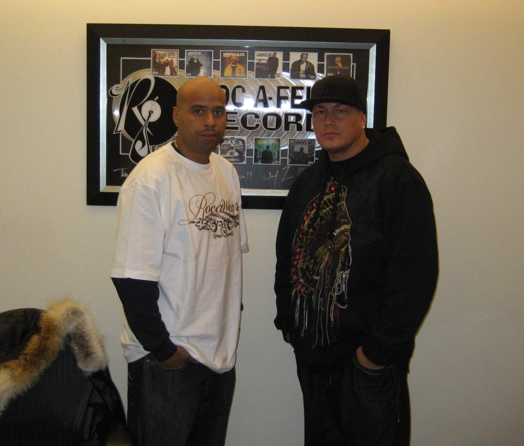 LF and OG Juan at the Roc Nation offices