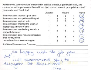 So happy with the job you did! Will recommend you to everyone at Beaumont! - Nina