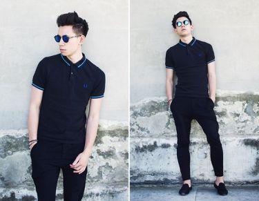 30代メンズ必見!黒ポロシャツを艶っぽく着こなす海外メンズコーデ13選