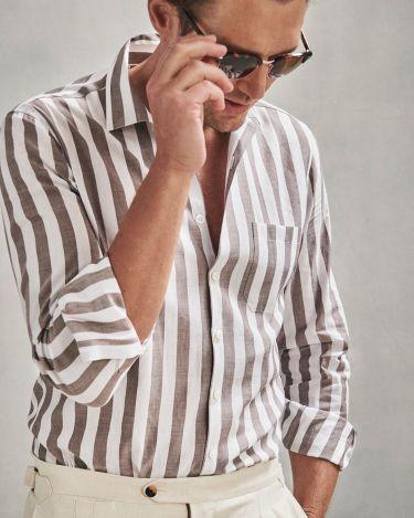 色っぽい40代メンズに似合う高級リネンシャツブランド15選