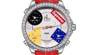 シュプリームとジェイコブのコラボ腕時計
