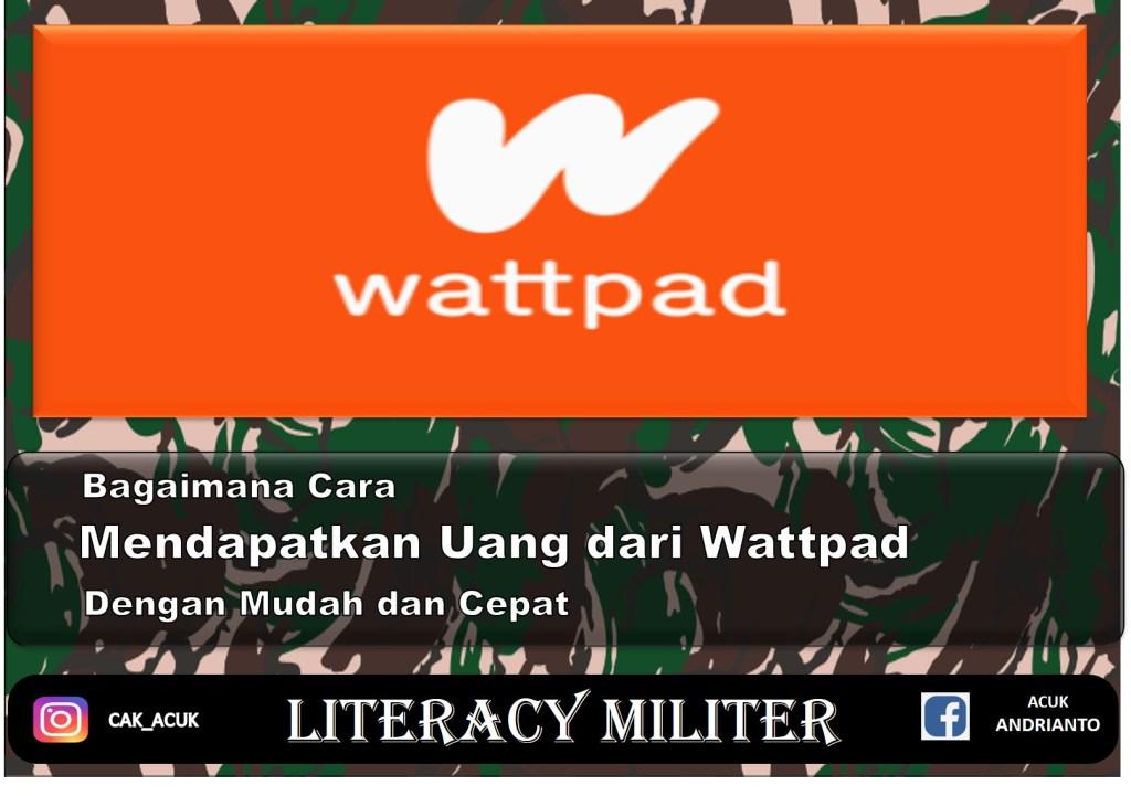 cara mendapatkan uang dari wattpad dengan membaca dan menulis novel, puisi, cerita