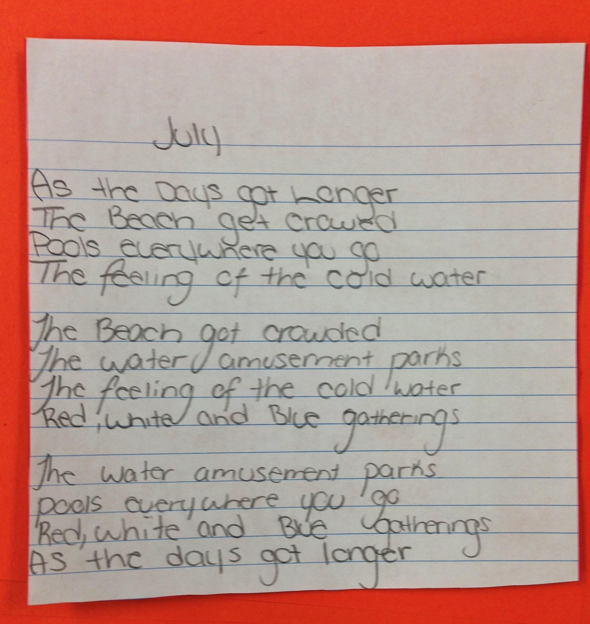 7th Grade Haiku Poems Examples