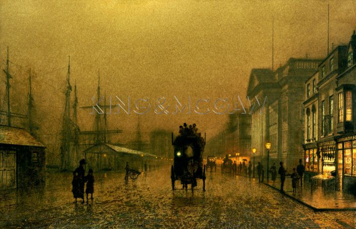 Liverpool Docks. John Atkinson Grimshaw (1836-1893). Oil On Canvas.