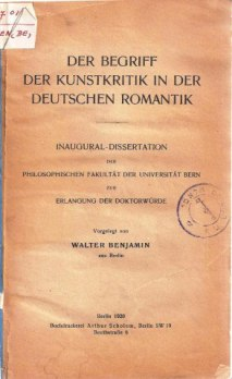 bejamins-dissertation-the-concept-of-art-criticism-in-german-romanticism
