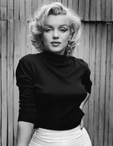 Portrait of American actress Marilyn Monroe (1926 - 1962) as she poses on the patio outside of her home, Hollywood, California, May 1953. (Photo by Alfred Eisenstaedt/The LIFE Picture Collection/Getty Images)
