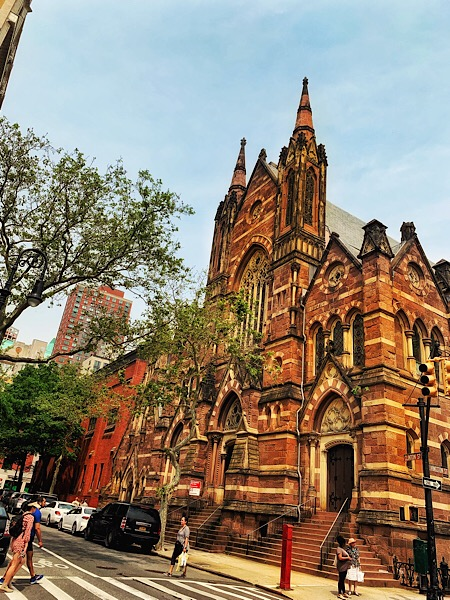 Cool looking church in Cobble Hill, Brooklyn