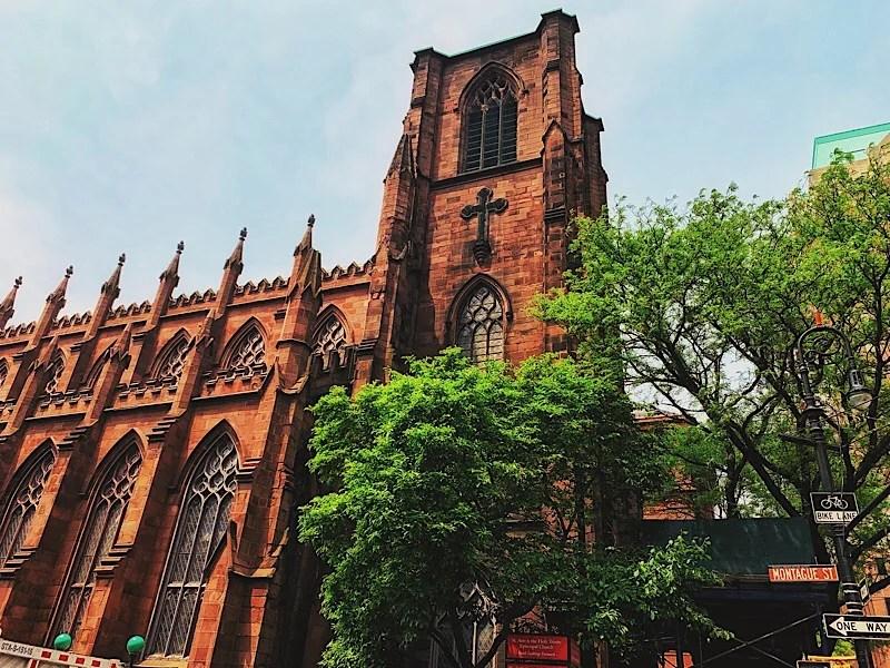 Church in Brooklyn Heights seen during my Brooklyn tour