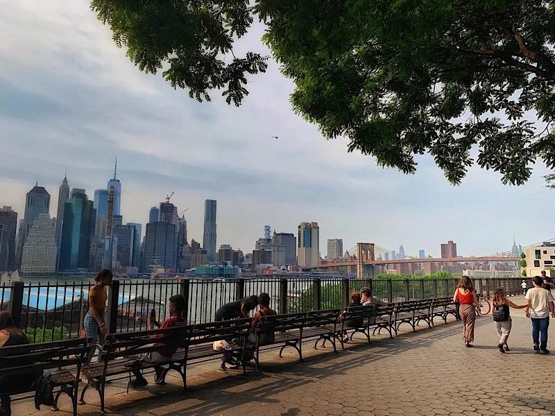 The Brooklyn Promenade seen during my Brooklyn tour