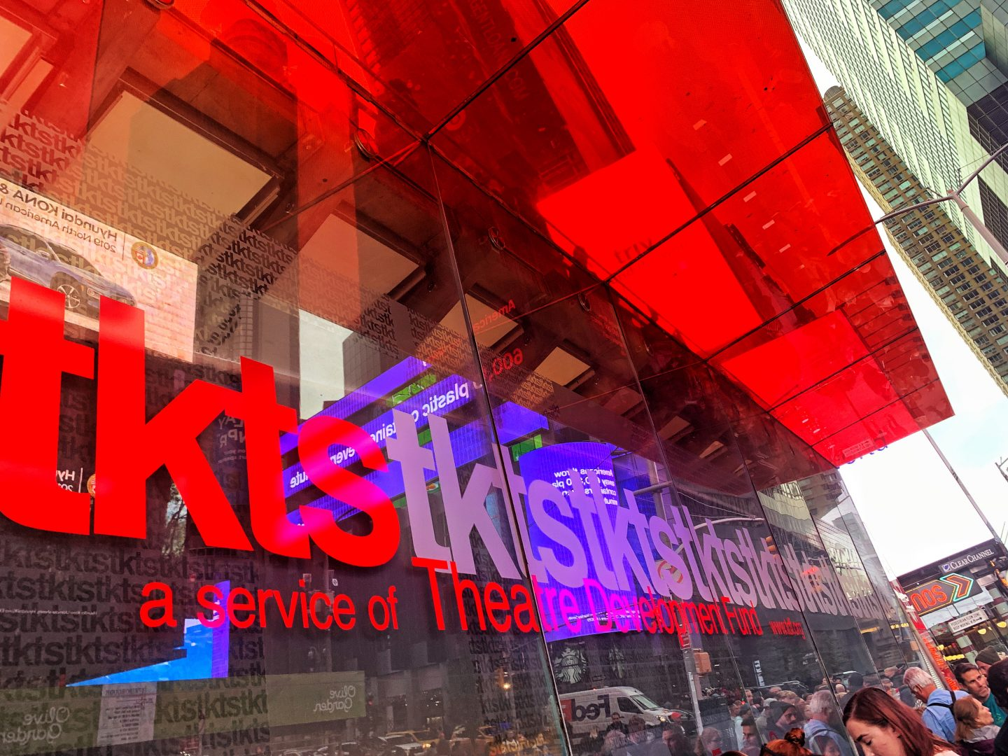 Tkts board in Times Square