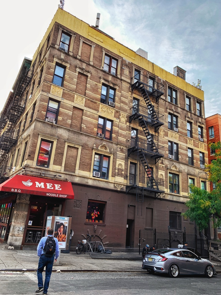 New York City building atop Mee Noodle Shop