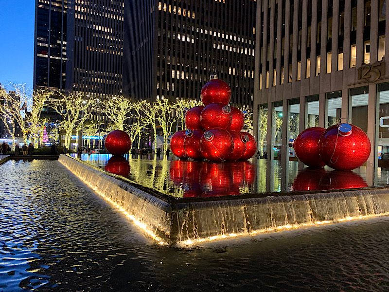 Christmas ornaments in New York City