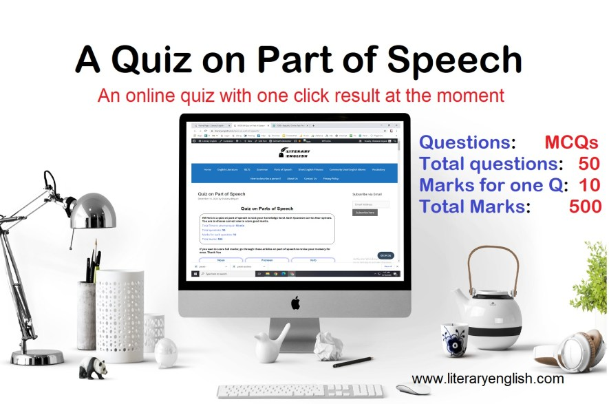 A quiz on parts of speech