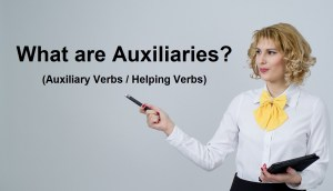 What are auxiliary verbs or helping verbs
