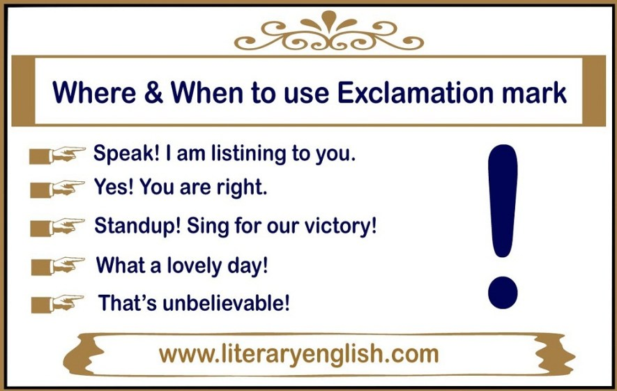 Where and when to use a exclamation mark