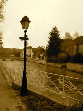 L'Ource, a continuation of the Seine, passes right by the Espace Renoir