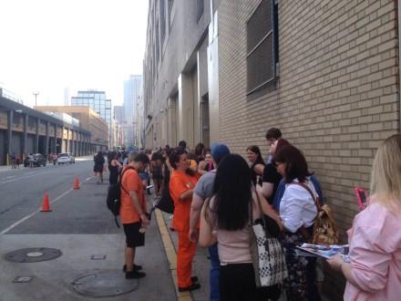 Waiting to get into OrangeCon.