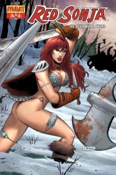 Red Sonja, swiped from Escher Girls