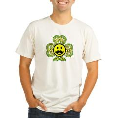 Mustache Smiley Shamrock man