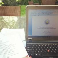 Almost done! Finishing up in the sunshine! #masterthesis #AustralianLiterature #study #studying #studygram ©theliteratigirl
